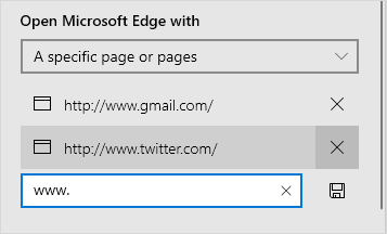 Launch Options in Edge