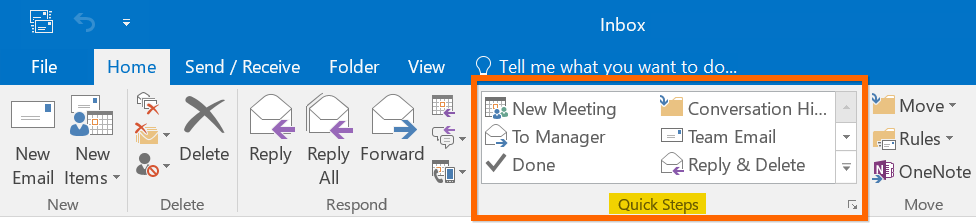 Quick Steps in Outlook