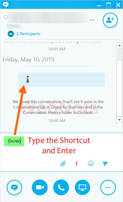 Skype Emoji Shortcuts