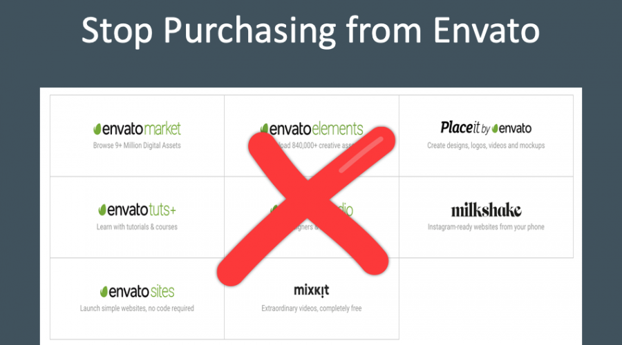 7 Reasons to Stop Purchasing from Envato Marketplace