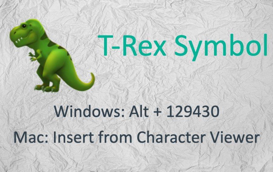 How to Type T-Rex Dinosaur Symbol Using Keyboard?