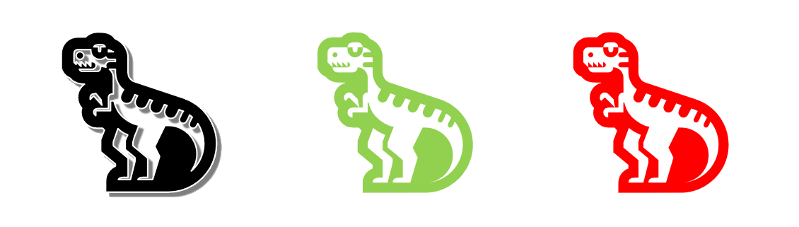 Variations of T-Rex Symbol
