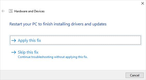Applying Fix for Hardware Errors