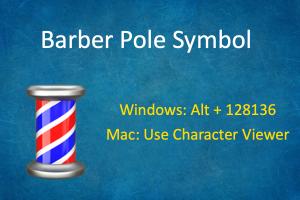Barber Pole Symbol