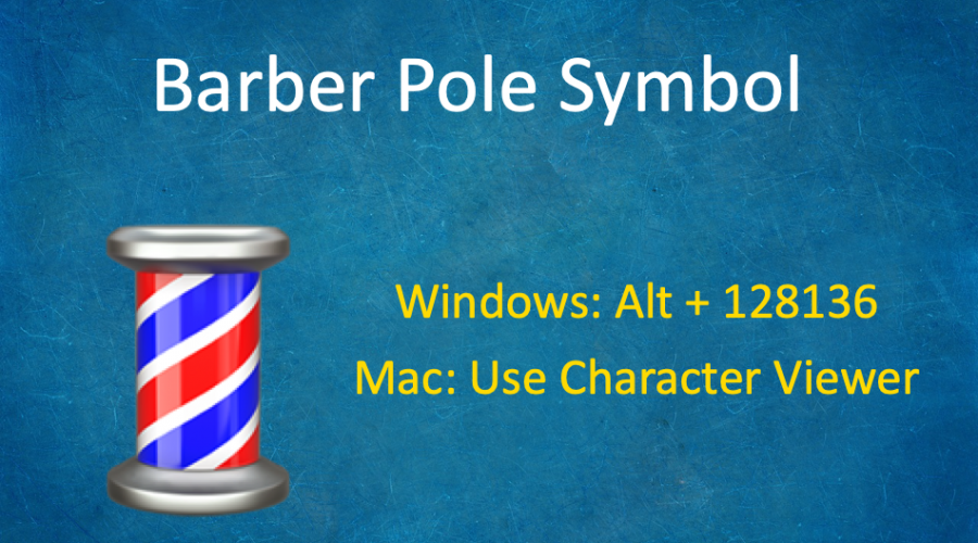 How to Type Barber Pole Emoji Symbol 💈?
