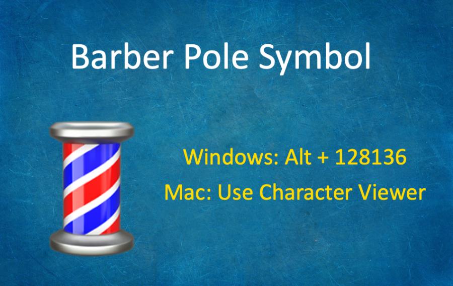 How to Type Barber Pole Emoji Symbol?