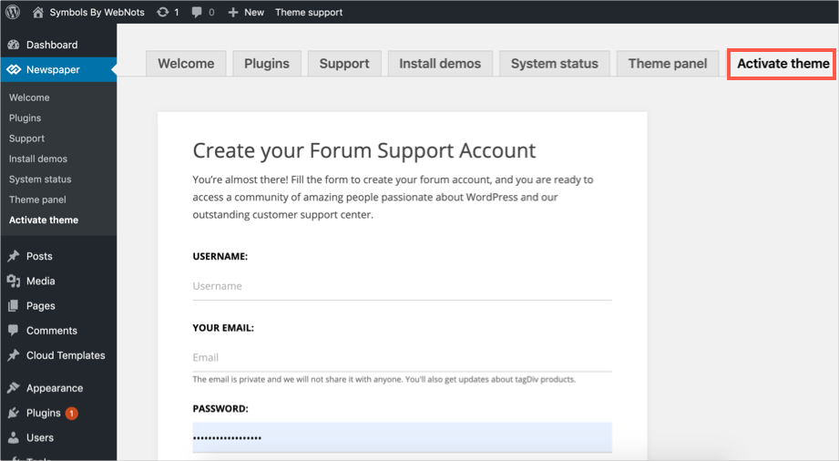 Create Forum Account