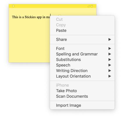 Customize Stickies App in Mac
