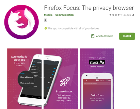 Firefox Focus Browser for Android