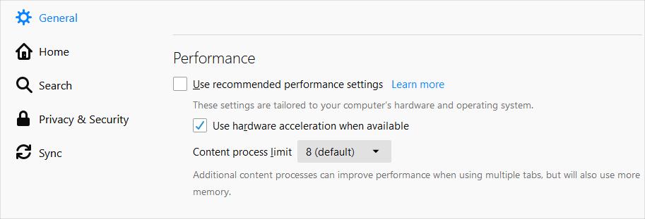 Firefox Hardware Acceleration
