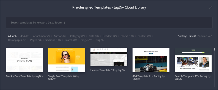Newspaper Theme Cloud Templates