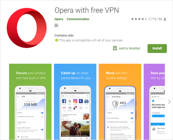 Opera Browser App for Android