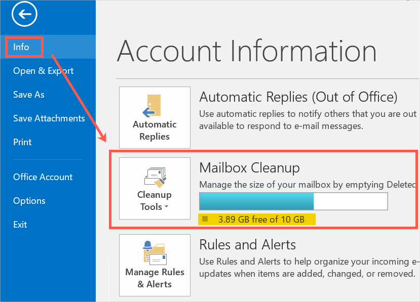 Outlook Mail Cleanup Tools