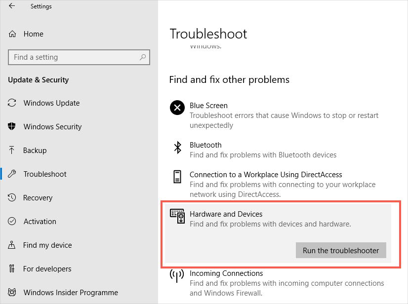 Troubleshoot Hardware