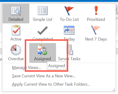 View Delegated Tasks in Outlook
