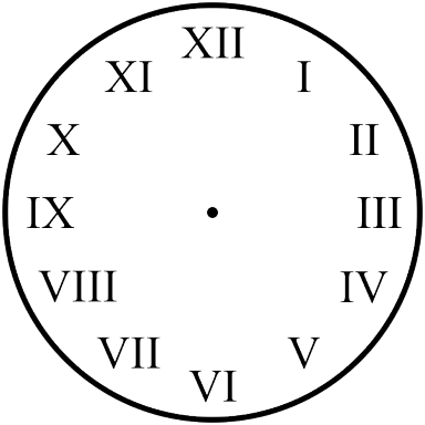 Clock with Roman Numbers
