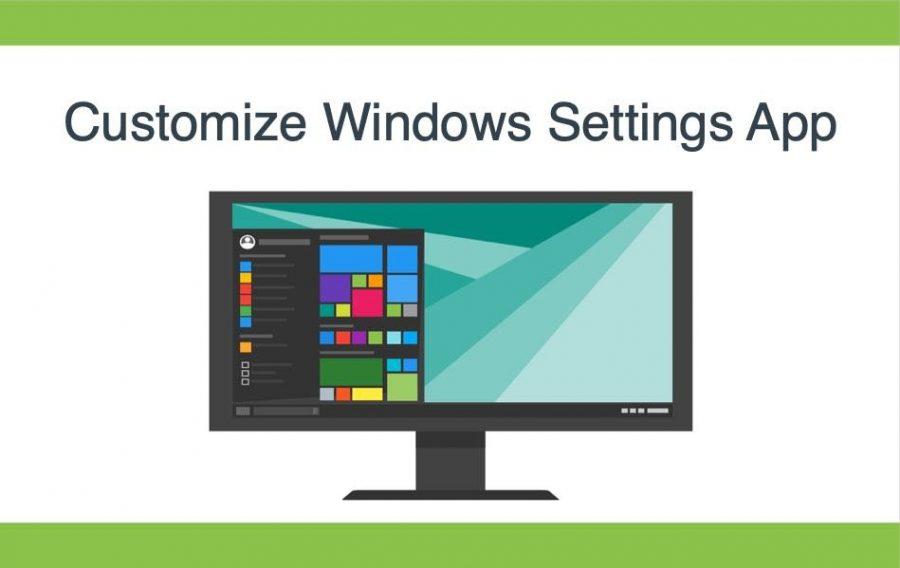 Customize Windows Settings App