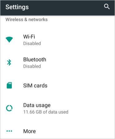 Data Usage in Android