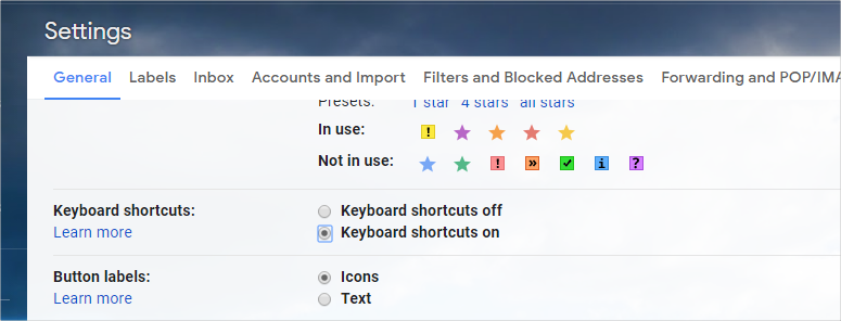 Enable Shortcuts