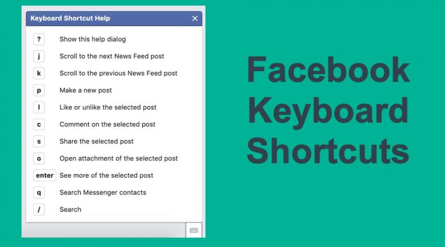Keyboard Shortcuts for Facebook