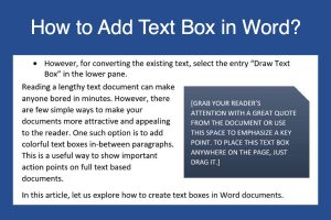 How to Add Text Box in Word?