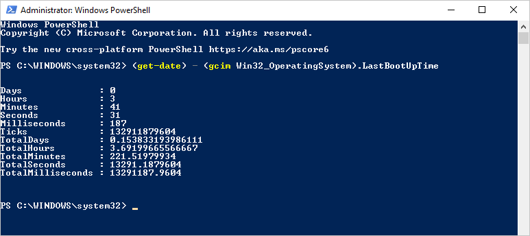 PowerShell Uptime