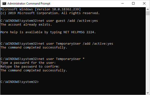 Setup Password