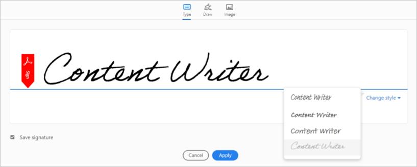 Подписать PDF
