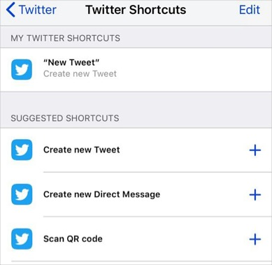 Suggested Shortcuts