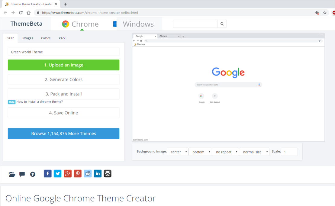How to Create Google Chrome Theme? » WebNots