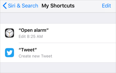 View Shortcuts