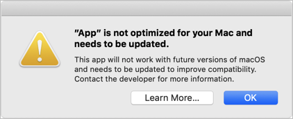 32-bit App Warning in macOS