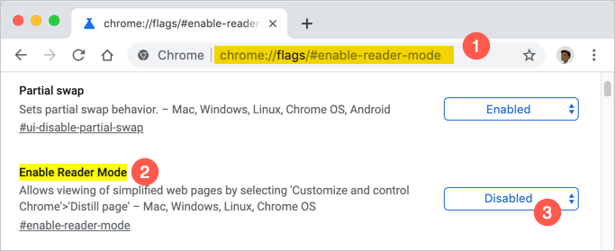 Access Reader Mode Flag with Direct URL
