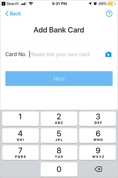 Add Bank Card