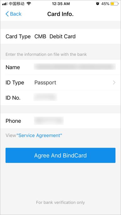 Add Passport and Phone Details