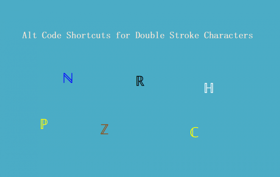 Alt Code Shortcuts for Double Stroke Letters and Numbers