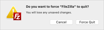 Confirm Force Quit in Mac