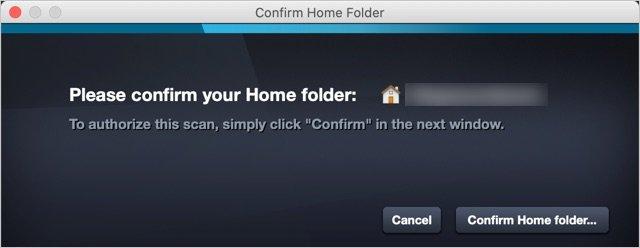 Confirm Home Folder