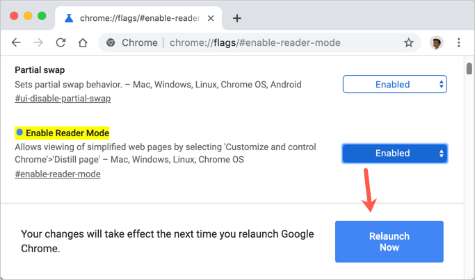 Enable Flag and Relaunch Chrome