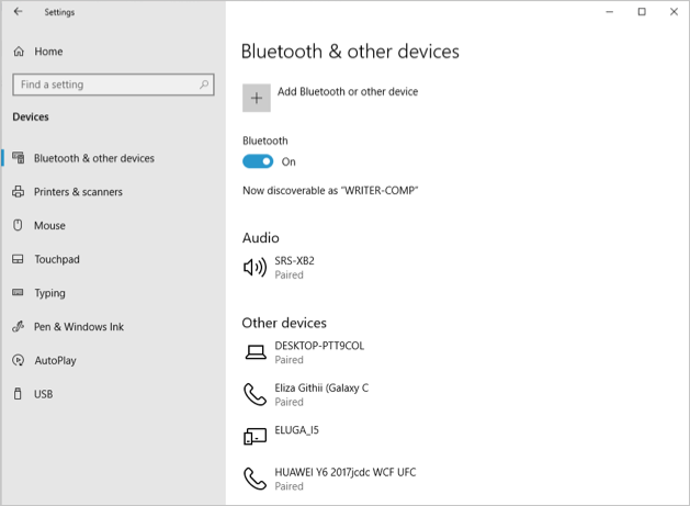 Enable PC Bluetooth