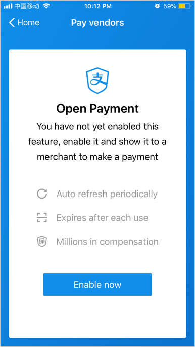 Enable Payment