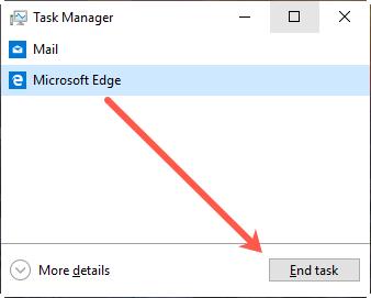 End Task in Windows Task Manager