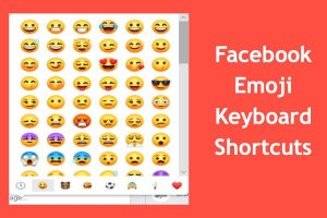 Facebook Emoji Keyboard Shortcuts