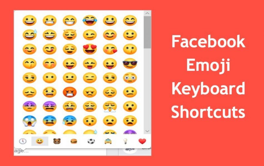 Facebook Emoji Keyboard Shortcuts