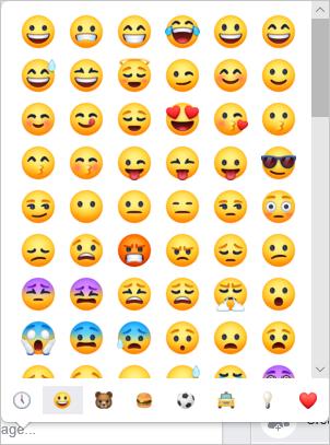 Facebook Emoji Picker
