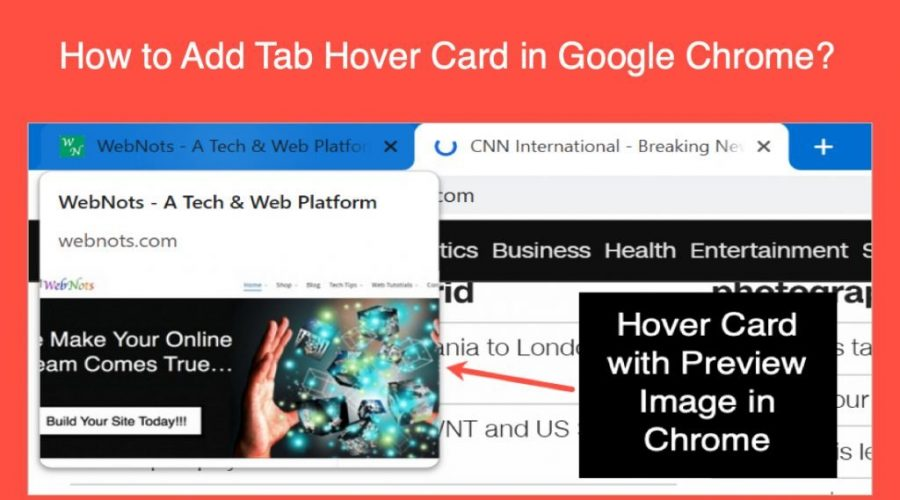 How to Add Tab Hover Card in Google Chrome?