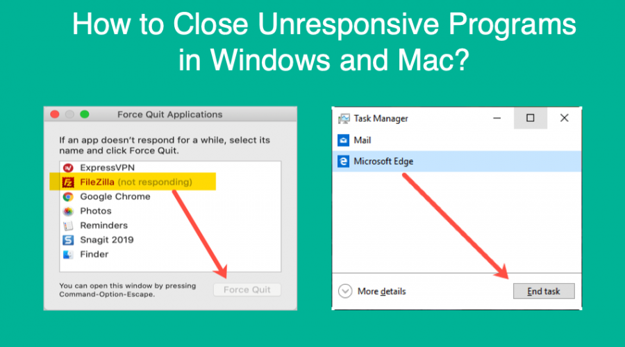 How to Close Unresponsive Programs in Windows and Mac?