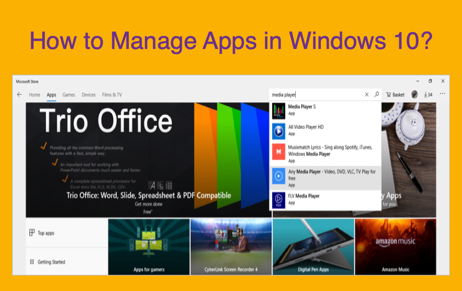 How to Manage Apps in Windows 10? » WebNots