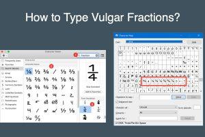 How to Type Vulgar Fractions?