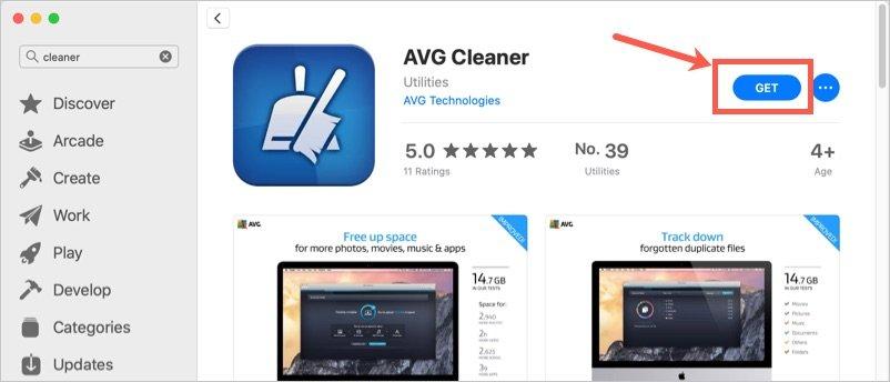 Install AVG Cleaner App in Mac